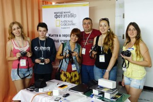 A group of students with their Ukrainian mentor Zorii Fine