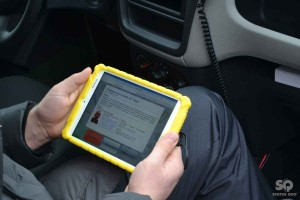 A tablet for police officers