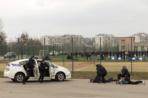 Kharkiv Patrol Police Training Center, March 2016  (Photo from usembassykyiv.wordpress.com)