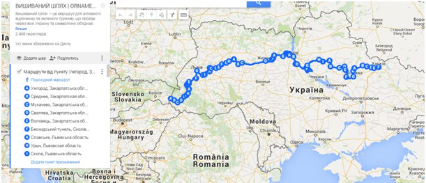 the route from Kharkiv to Uzhgorod