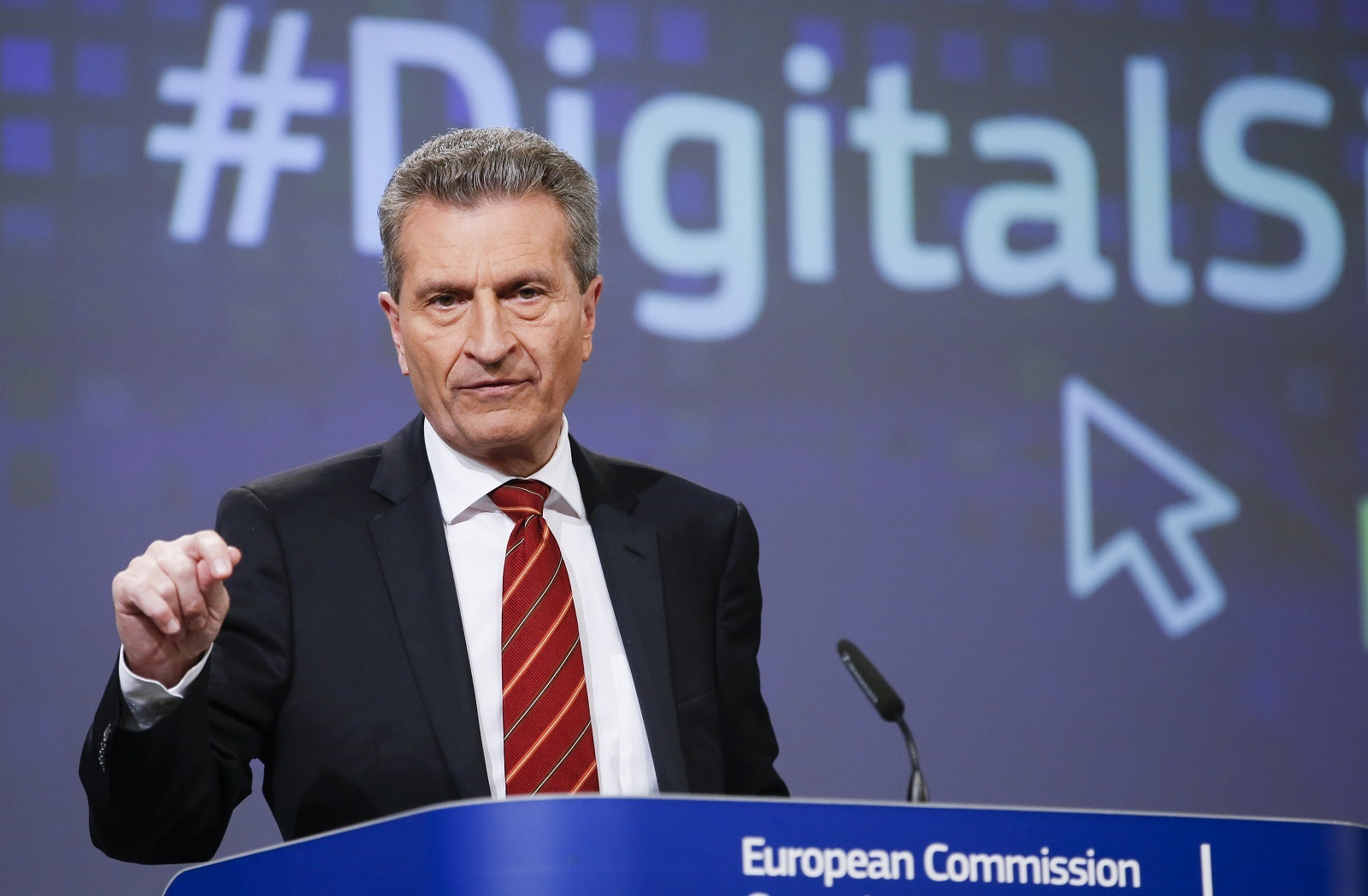 EU Commissioner for the Digital Economy and Society Guenther Oettinger